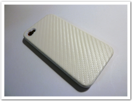 iPhone 4 x Carbon Look for iPhone 4 ホワイト