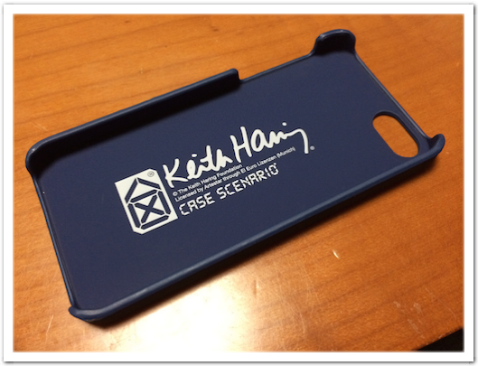 KEITH HARING Nubuk Case for iPhone 5s/5 Varnish Dog Blue
