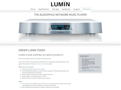 LUMIN Audiophile Network Music Player